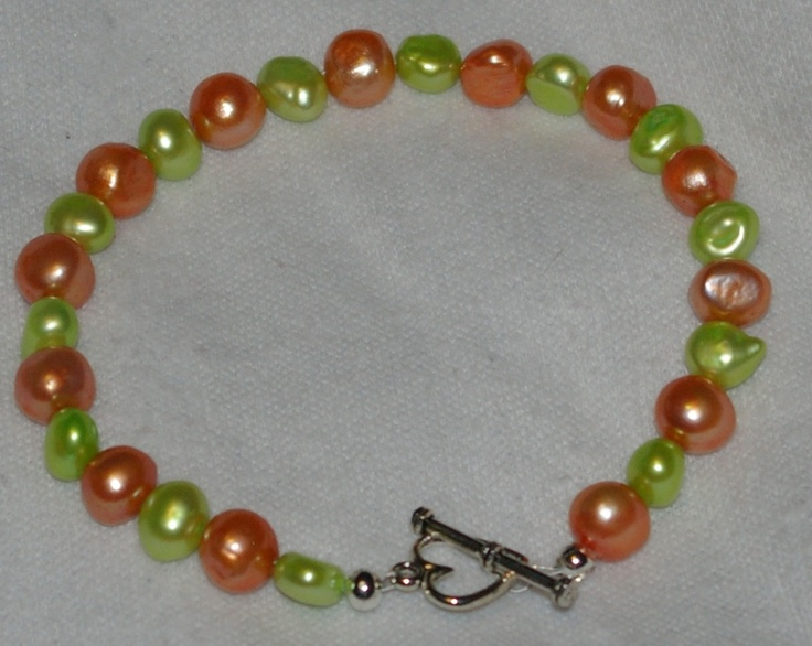 green and orange pearls