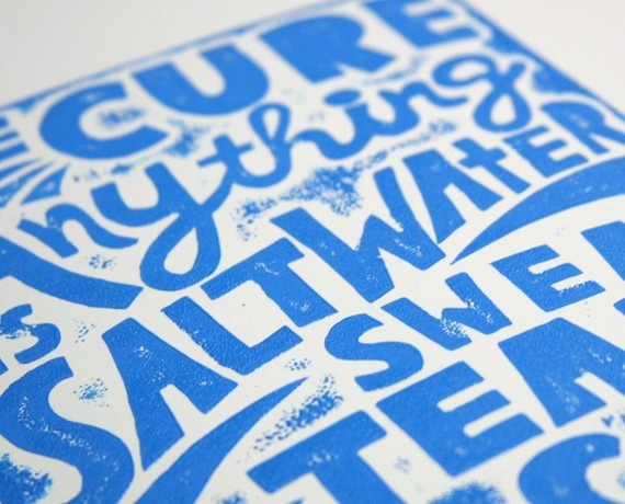 Lino Print Card #card #print #ink