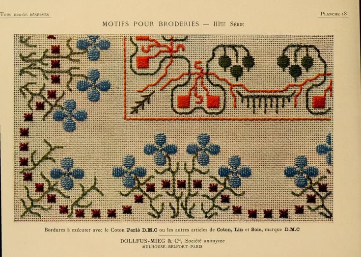 Motifs pour broderies. (IIIme série) No. 18
