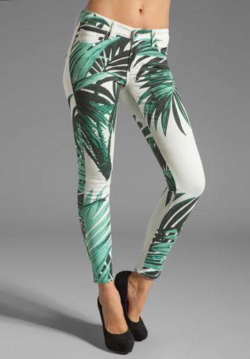 AMERICAN RETRO Palm Pants in Print Palm