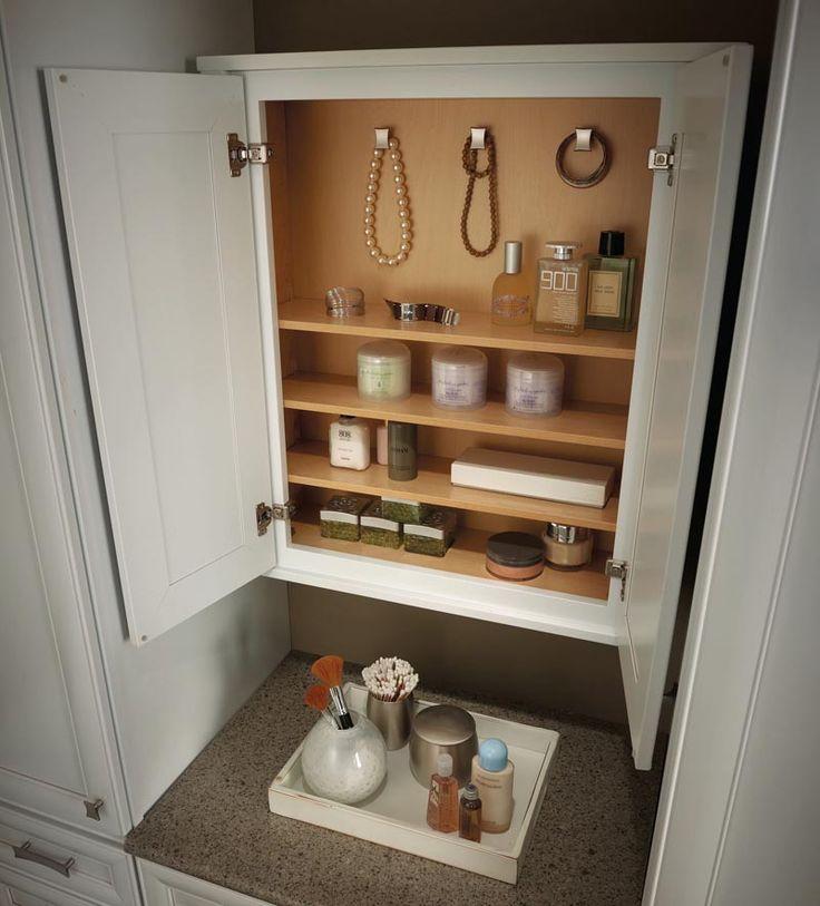 The Art Gallery Storage Solutions Details Vanity Wall Cabinet KraftMaid KraftMaid Cabinetry