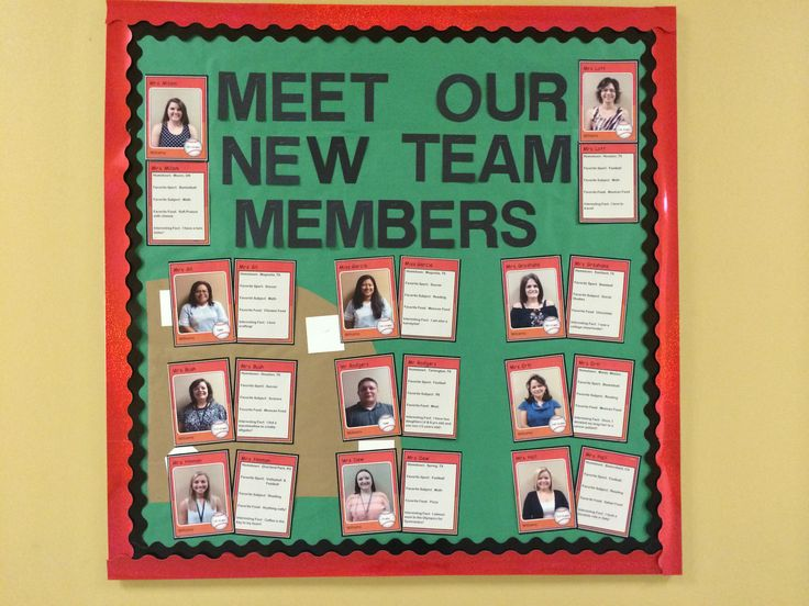 Sports theme bulletin board to showcase our new staff members. Use this website to create your cards. http://www.mlbbaseballonline.com/cards