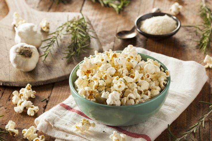Rosemary Parmesan Popcorn - Joy Bauer