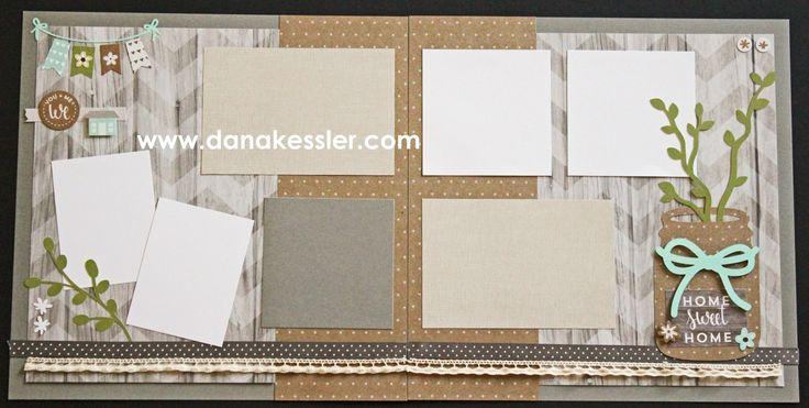 All Together Rustic Home Fundamentals Scrapbook Layout Page Kit #ctmhrushtichome #ctmhfundamentals #scrapbooking #cricutexplore #ctmhflowermarket #scraptabulousdesigns