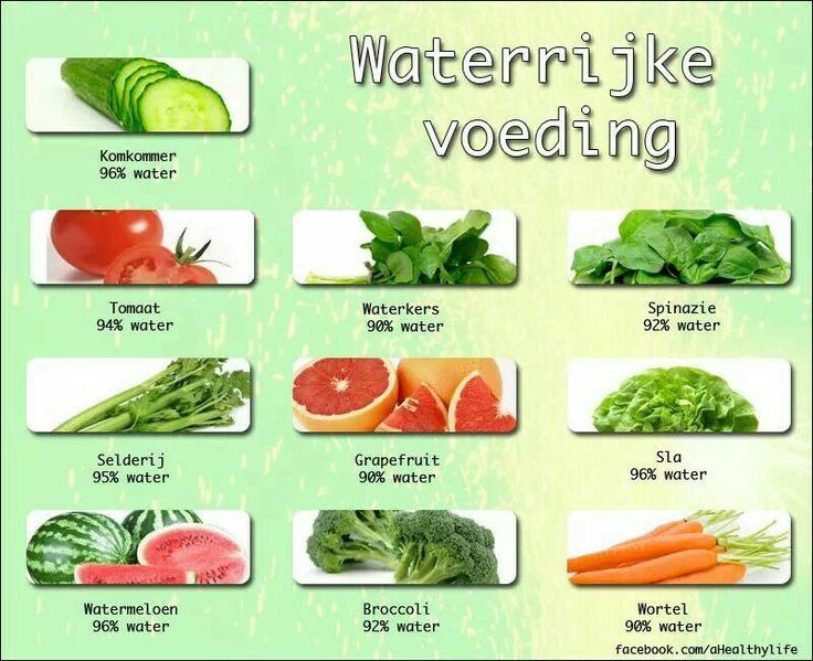 Waterrijke voeding