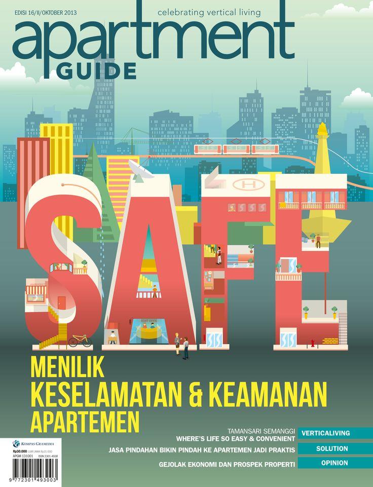 MENILIK KESELAMATAN & KEAMANAN APARTEMEN, apartment guide, magazine cover design 2013, SAFE