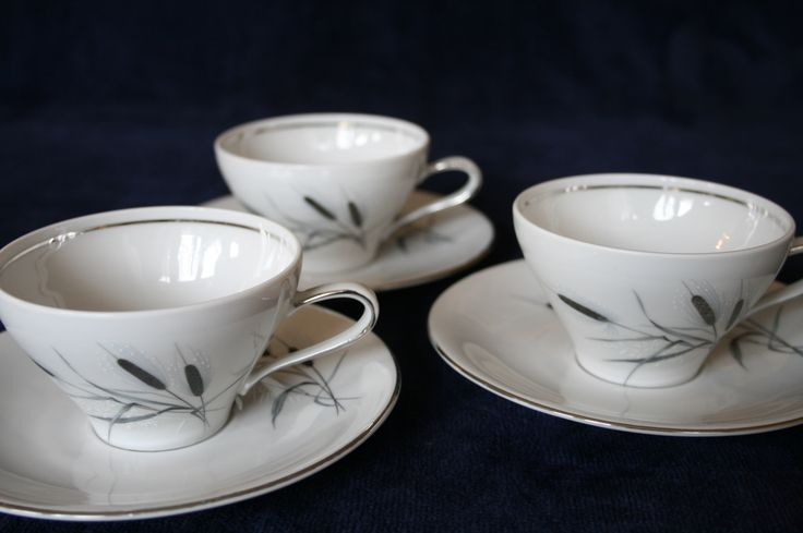 A classical type of cups and saucers from Arzberg Germany called 'Platina' www.oseasoudservies.nl