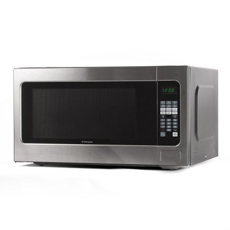 Counter Top Microwave Oven, 2.2 Cubic Feet, Stainless Steel Front, Black