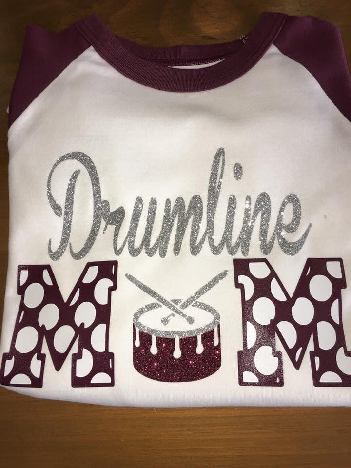 Drumline mom glitter shirt