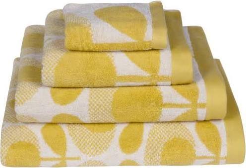 yellow toilet mat set
