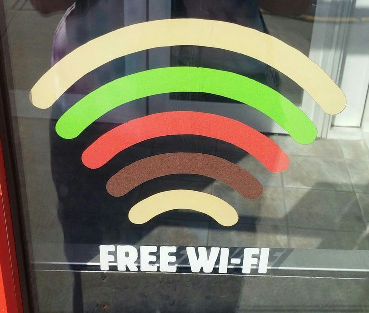Burger Kings WiFi sign is a burger