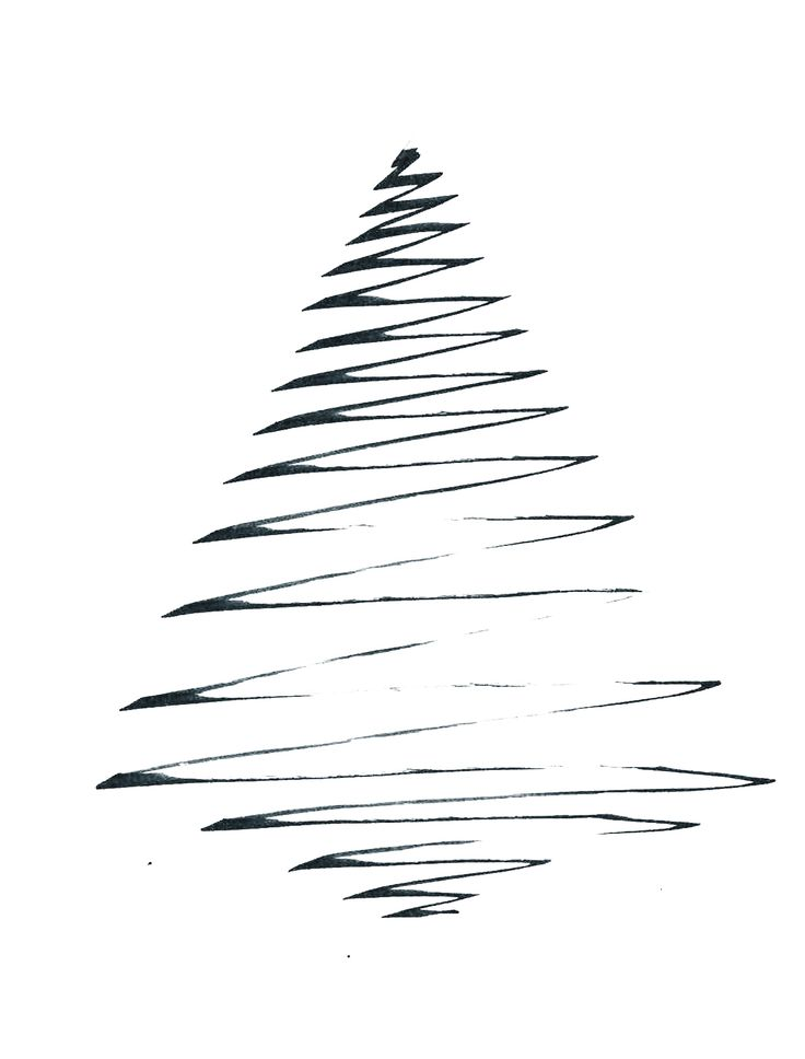The 25 best Tree line drawing ideas on Pinterest  Simple