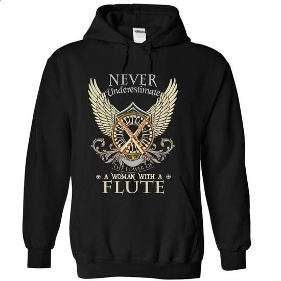 Never Underestimate A Woman With A Flute - #printed t shirts #make t shirts. GET YOURS => https://www.sunfrog.com/LifeStyle/Never-Underestimate-A-Woman-With-A-Flute-Black-9518060-Hoodie.html?60505