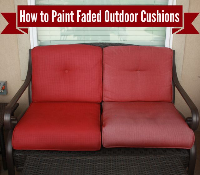 How to Freshen Up (Paint) Your Outdoor Cushions  www.denisedesigned.com #homedecor  #outdoorentertaining