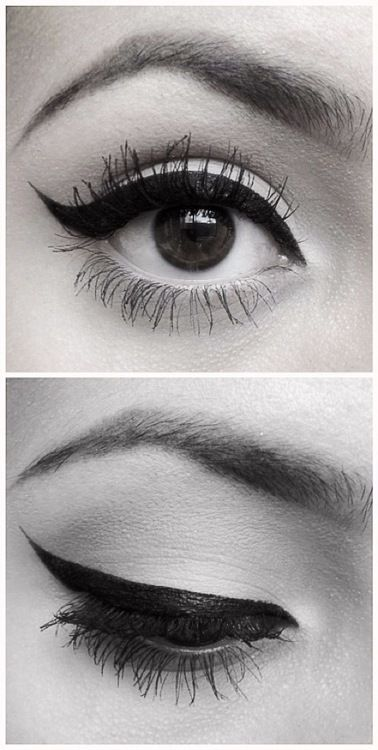 winged eyeliner. #makeup
