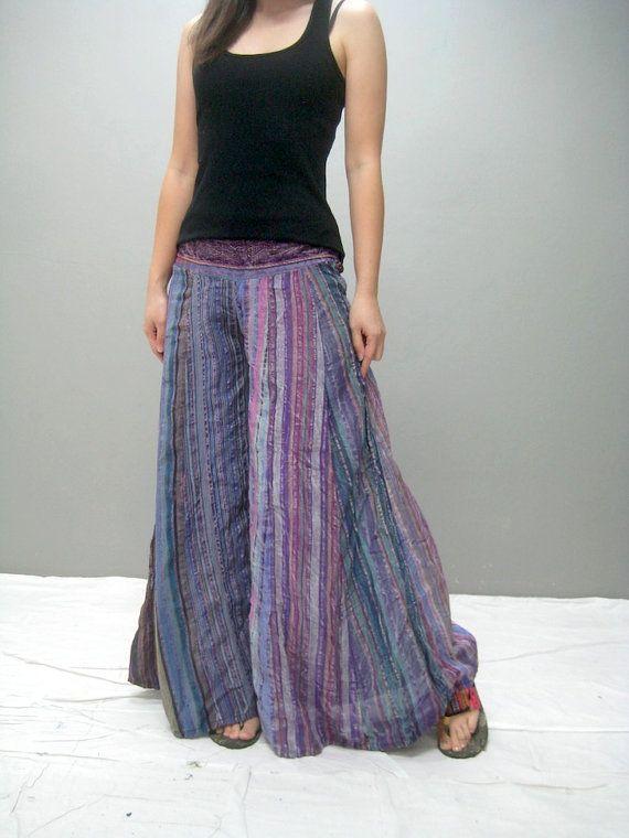 extra wide, boho, hippy, gypsy pants