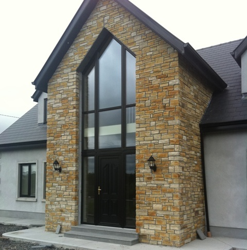 Gold Quartzite Stone Cladding for Porch - Stoneer from McMonagle Stone