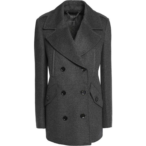 BELSTAFF  Dorrington double-breasted wool and cashmere-blend coat ($400) ❤ liked on Polyvore featuring outerwear, coats, belstaff coat and belstaff