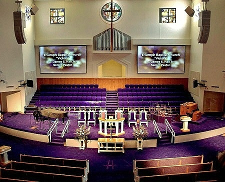 triumph baptist church interior with spg3 architects anthony o james architect