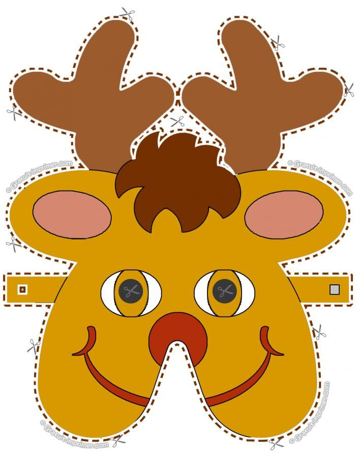 bricolage masque de renne pour enfant jeu de noel