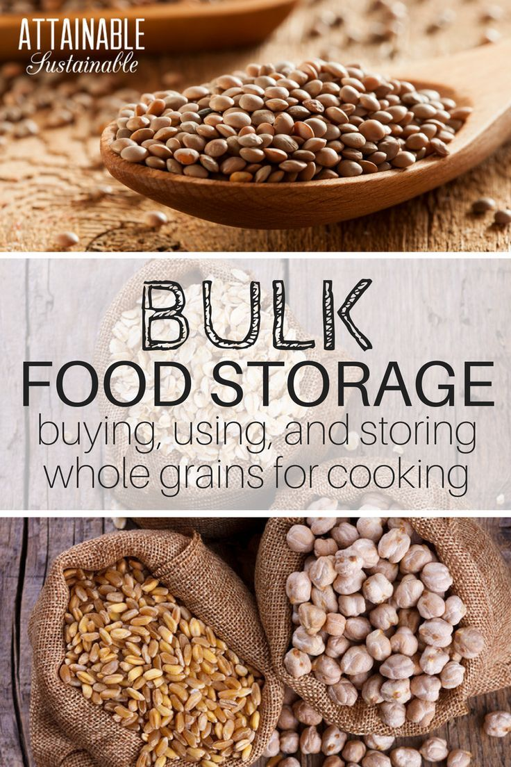 Buying food in bulk can save you some cash. Consider these storage ideas when choosing long term food containers for bulk food storage from your co-op.