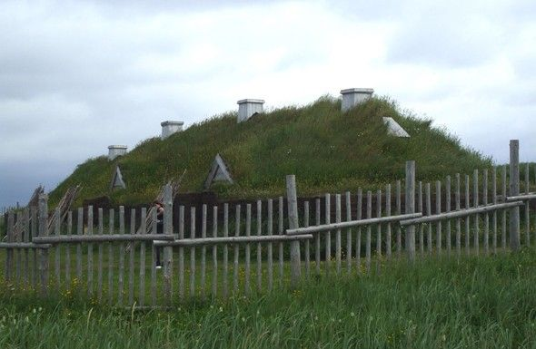 L'Anse aux Meadows - around 1000 AD, a group of Vikings became the first European settlers in North America, as evidenced by the ruins of their settlement at L'Anse aux Meadows.