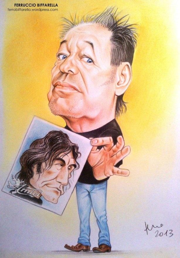 Caricatura Vasco Rossi - tecnica matita by Ferruccio Biffarella…