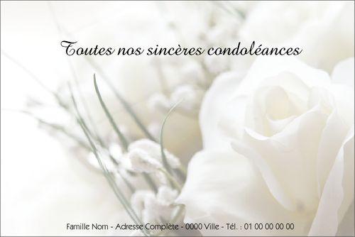 Carte condoléances - Modèles et exemples texte cartes condoléances