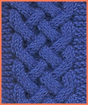 celtic  plait cable knit pattern worked over a minimum of 25 stitches