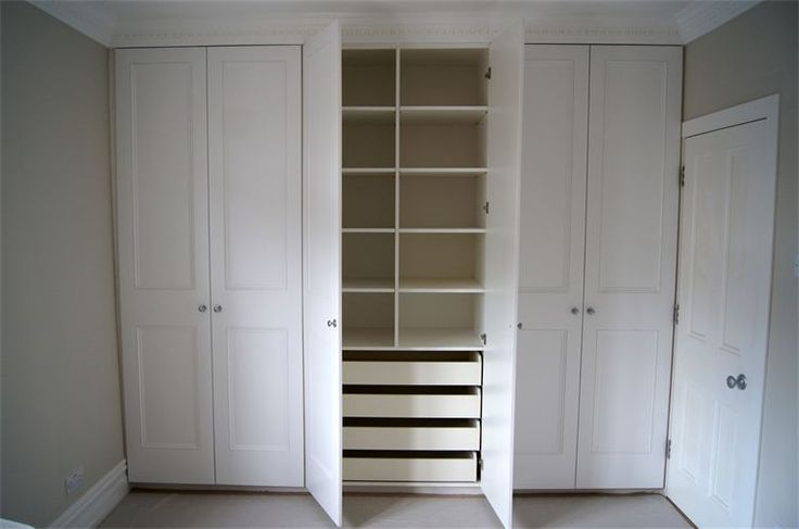 Fitted wardrobe : Hand made and painted six doors fitted wardrobe constructed from mdf inside