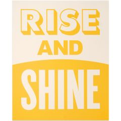 We love this 'Rise and Shine' affordable wall art print. Such a
