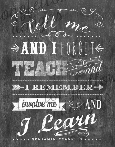 Teach Me  Benjamin Franklin Quote  11 x 14 by Longfellowdesigns, $20.00