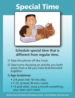 SCHEDULE SPECIAL TIME FOR CONNECTION | Positive Discipline
