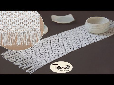 Camino de mesa a ganchillo youtube tejido al crochet for Camino de mesa elegante en crochet