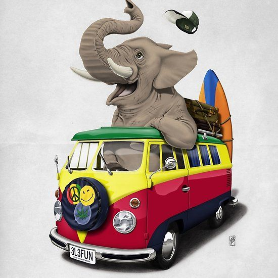 Pack the Trunk (wordless) art   decor   wall art   inspiration   animals   home decor   idea   humor   gifts