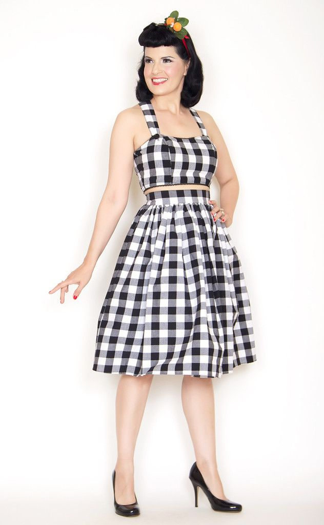 Trixie: Black and White Gingham