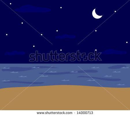 Playa Noche Vectores en stock y Arte vectorial | Shutterstock