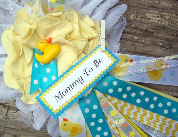 Rubber Duck Mommy To Be Corsage Baby Shower By BloomingParty, $16.00