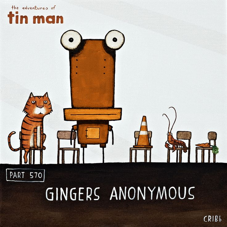 Gingers Anonymous - Tin Man and a collection of his orange friends. By Tony Cribb - www.imagevault.co.nz