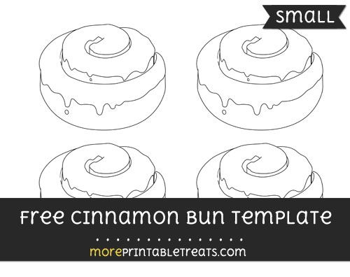 Free Cinnamon Bun Template - Small | Shapes and Templates ...