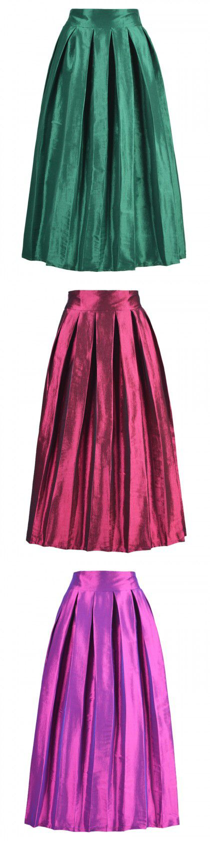 Skirt. High Waist Maxi Skirt and this demure skirt will help get you the on-trend look.