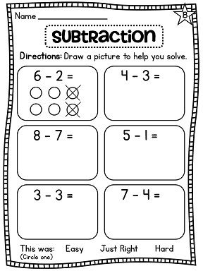 Subtraction differentiated worksheets galore!