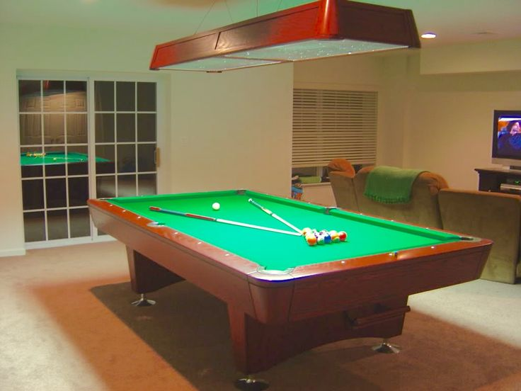 Baby says he wants a Blue Diamond Pool Table, baby gets a pool table.