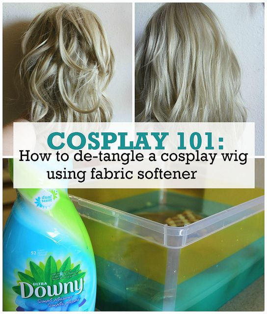 cosplay 101: how to de-tangle a cosplay wig using fabric softener #cosplay #wigc