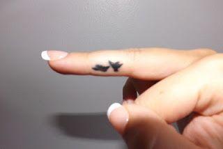bird Finger Tattoo
