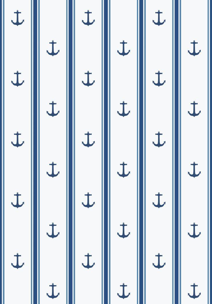 Morandi Sisters Microworld: Printable Wallpapers - Anchor Symbol - Carte da parati Stampabili