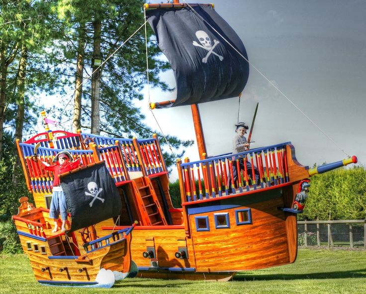 244 best kids 39 corner teepees cabins images on pinterest - Wooden pirate ship outdoor ...