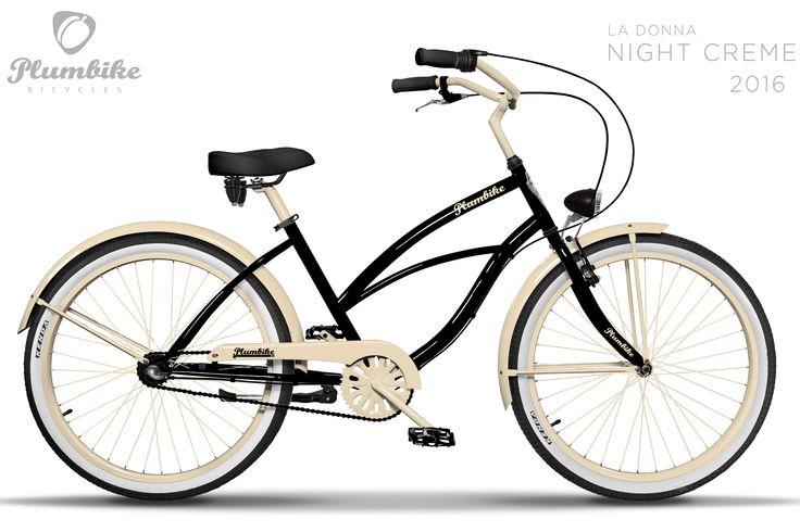 Negra bicicleta urbana La Donna Night Cream