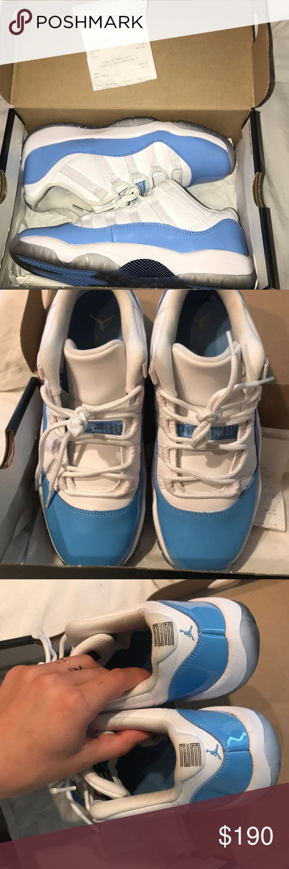 Air Jordan 11 Retro Low White and University Blue Great condition Only worn once  Still have receipt and original box Air Jordan Shoes Sneakers