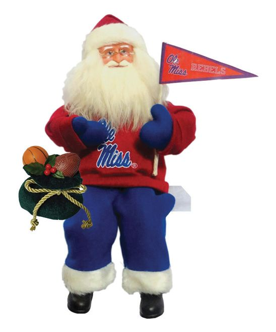 Ole Miss Rebels Musical Santa Figurine